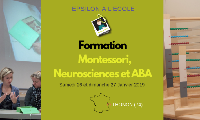 Formation Montessori, Neurosciences et ABA